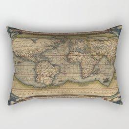 The world Ortelius Typus Orbis Terrarum 1564 Vintage World Rectangular Pillow