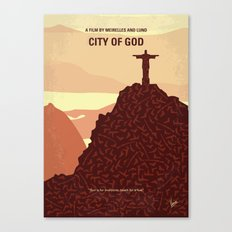 No716 My City of God minimal movie poster Canvas Print