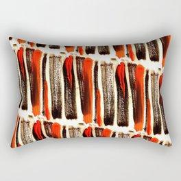 Red & Black Brushstrokes  Rectangular Pillow