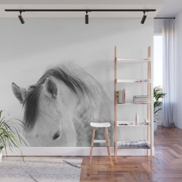 Modern Photography White Horse Wall Mural