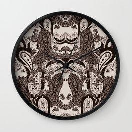 paisley heart Wall Clock