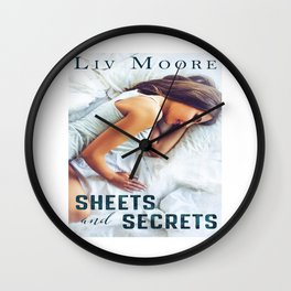 Sheets and Secrets by Liv Moore Wall Clock