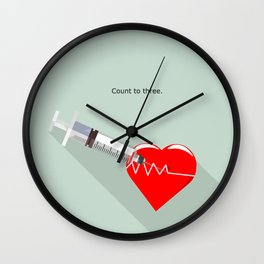 Shot to the heart - Pulp fiction Overdose Needle Scene needle for injection  Wall Clock