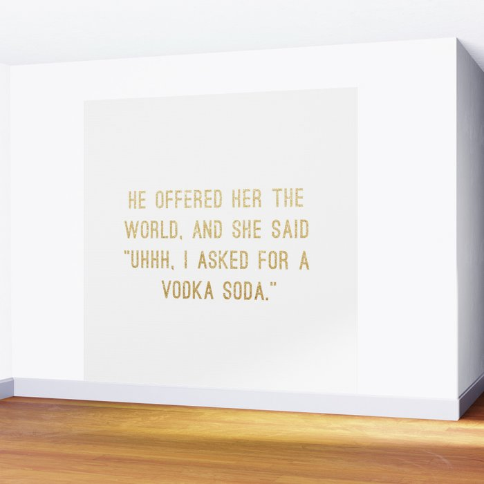Vodka Soda Wall Mural