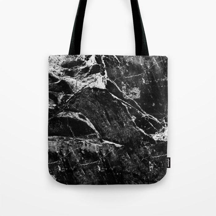 Marble Black Tote Bag