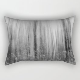 Ghostly forest, black and white Rectangular Pillow