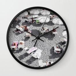 Grey Beach Wall Clock