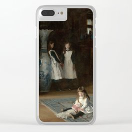 The Daughters of Edward Darley Boit by John Singer Sargent (1882) Clear iPhone Case