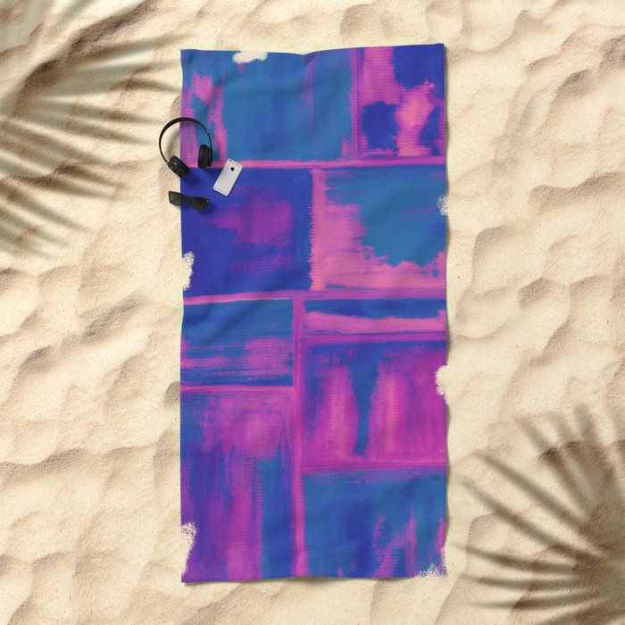 Watercolor abstract 27 Beach Towel