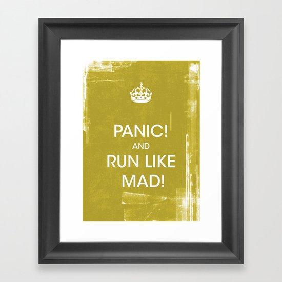 panic in mustard Framed Art Print