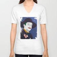 jack nicholson V-neck T-shirts featuring Joker Nicholson by FSDisseny