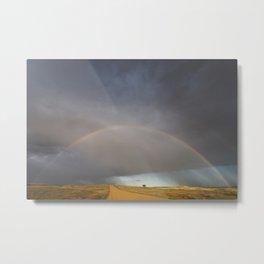 Rainbow after the Storm - Badlands National Park Metal Print