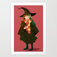 hermione Art Prints featuring Hermione by hijinxx