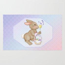 Brown Bunny and Basket Rug
