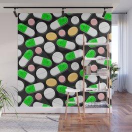 Deadly Pills Pattern Wall Mural