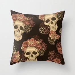 Lovely Skull Throw Pillow