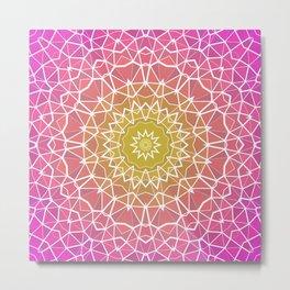 Pink, Orange, and Yellow Kaleidoscope 5 Metal Print