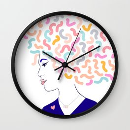 'To Strong Women' Typographic Portrait #grlpwr #illustration Wall Clock