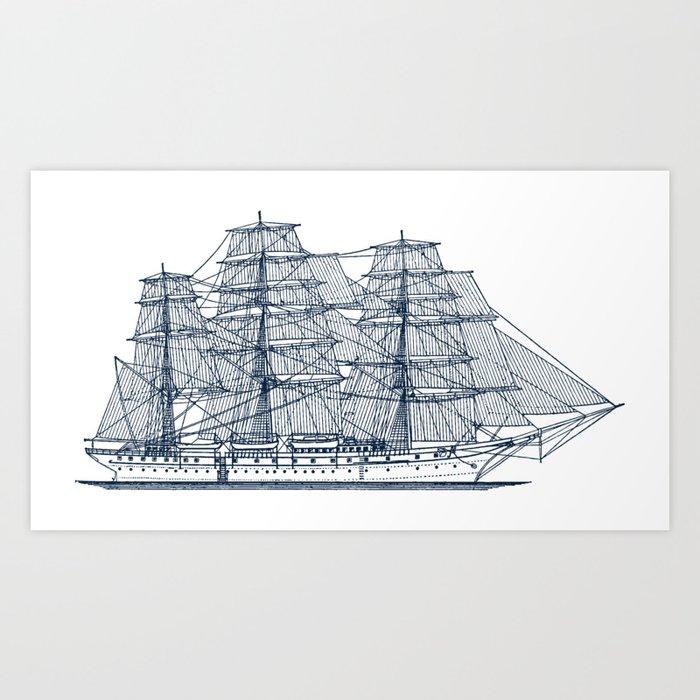 Big Sailing Ship Kunstdrucke