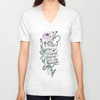 oscar wilde V-neck T-shirts featuring Oscar Wilde Quote  by TLG Creative