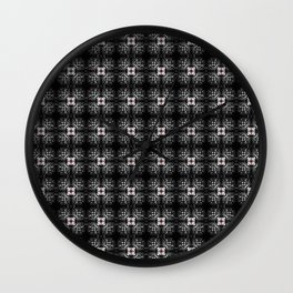 Spider Pipes in Black, Red, and White Wall Clock