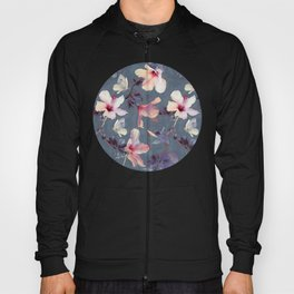 Butterflies and Hibiscus Flowers - a painted pattern Hoody