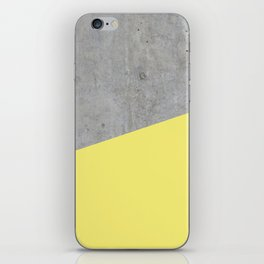 Concrete and Yellow Color iPhone Skin