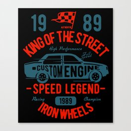 king of the street Canvas Print