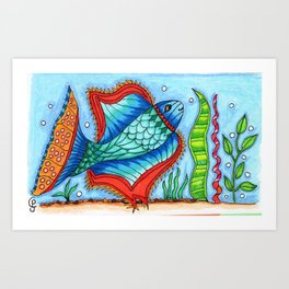 One Fish.... Art Print