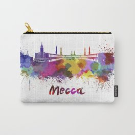 Mecca skyline in watercolor Carry-All Pouch