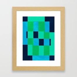 L Blocks Framed Art Print