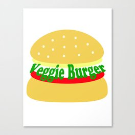 Veggie Burger - Vegan - Meatless Canvas Print