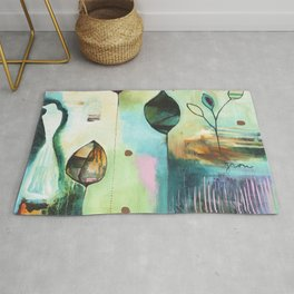 """Abundance"" Original Painting by Flora Bowley  Rug"