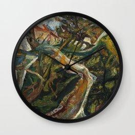 Chaïm Soutine - Chemin De La Fontaine Des Tins At Ceret. Wall Clock