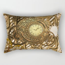 Wonderful steampunk design, awesome clockwork Rectangular Pillow