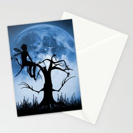 Moonlight Wondering Fairy - Blue Stationery Cards