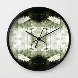 Daisy Love b&w, photography 2009 Wall Clock