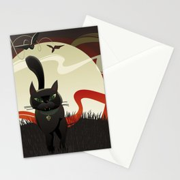 Halloween. Black Cat. Stationery Cards