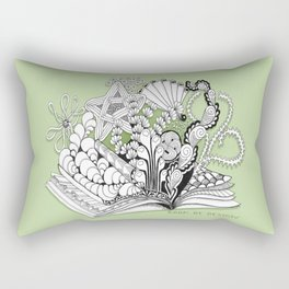 Book of Design - Zentangle Illustration for Children Rectangular Pillow