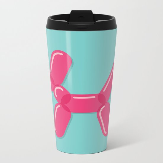 Balloon Dog Metal Travel Mug