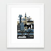 stockholm Framed Art Prints featuring Stockholm by koivo