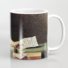 Death of Marat by - Jacques-Louis David Coffee Mug