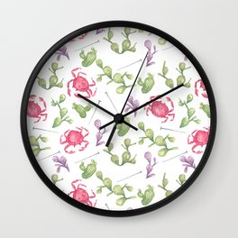 Pins, Pincers and Prickles Wall Clock