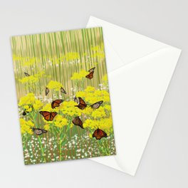 Dancing Monarchs Stationery Cards