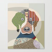 beagle Canvas Prints featuring Beagle by Lanre Studio