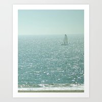 sailing Art Prints featuring Sailing by Catherine Holcombe