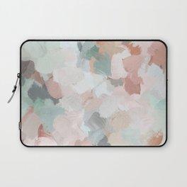 Blush Pink Mint Green Blue Coral Peach Abstract Flower Wall Art Springtime Painting Modern Wall Art Laptop Sleeve