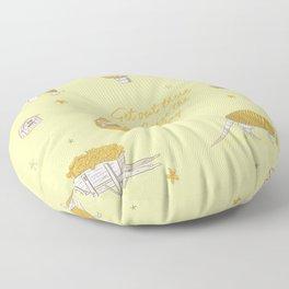 Yellow armadillo pattern Floor Pillow