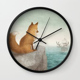 The Day the Antlered Ship Arrived Wall Clock