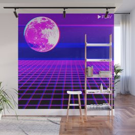 Once In A Neon Moon Wall Mural